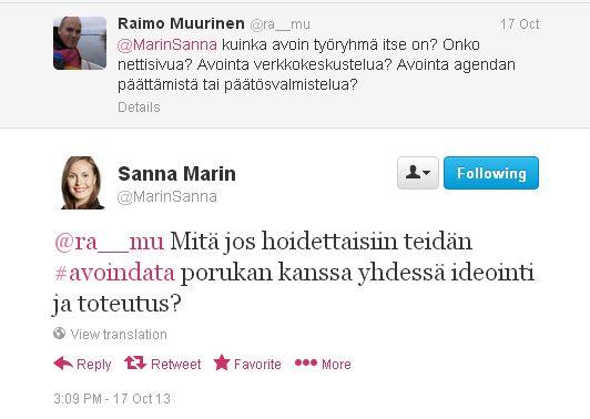 Demokratiapäivän Twitter-keskustelu Tampereen asukasdemokratiaryhmästä.